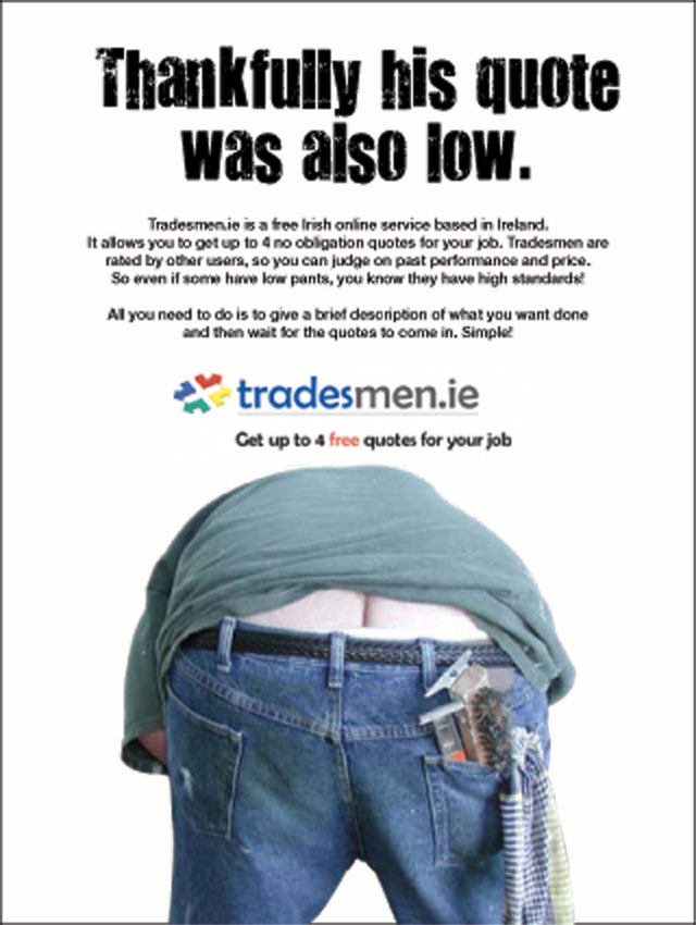 Tradesmen.ie press ad for Irish Daily Star and Star Chic