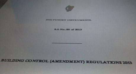 New building regulations 2013