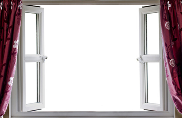 Double Glazed White PVC Side Hung Outward Opening Windows