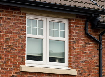 White PVC Double Glazed Side Hung Window with Built in Vents