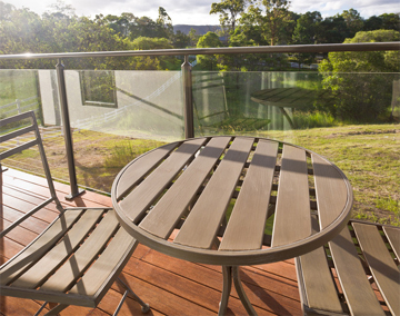 Garden Decking with Glass Railing