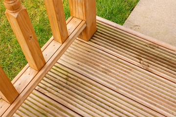Garden Decking with Grooved Flooring