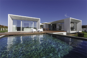 Garden Decking and Swimming pool