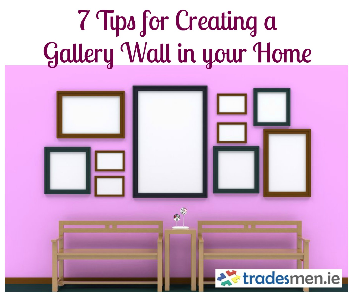how to make a gallery wall in your home blog. Black Bedroom Furniture Sets. Home Design Ideas