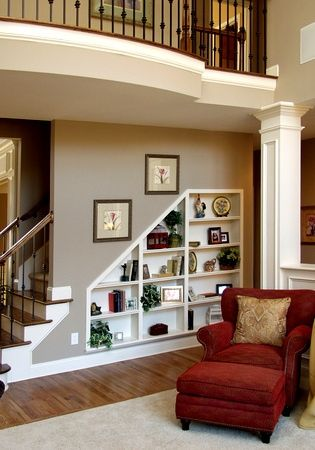display space under stairs