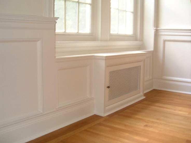 wainscoting with radiator cover