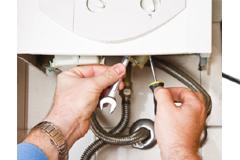 Servicing a gas boiler