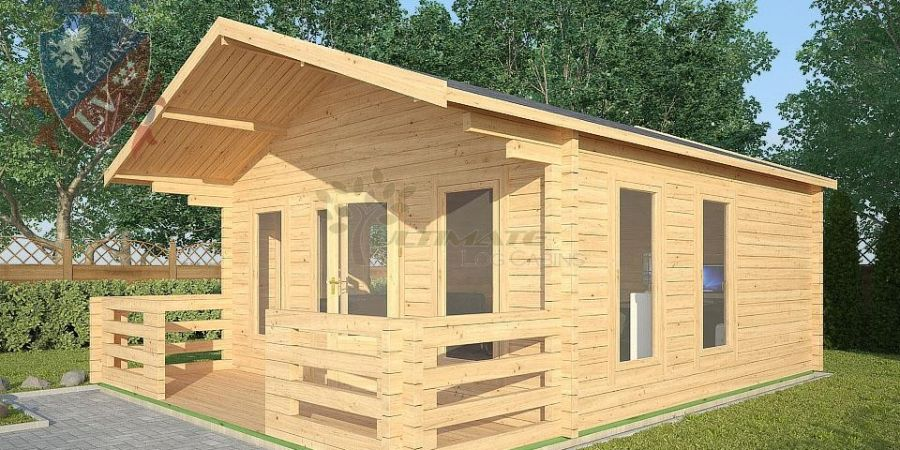 a log cabin with space to sit outside on a sunny day tends to be the most popular they come in a variety of sizes shapes and price points