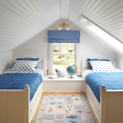 Childrens bedroom in attic