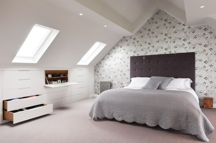 attic conversion bedroom with storage