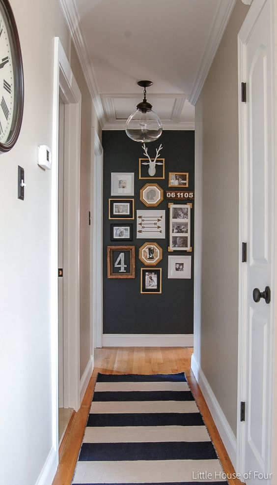 Statement wall in hallways