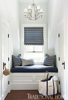 window seat in hallway