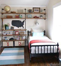 Storage boys bedroom