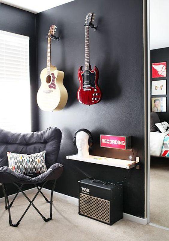 teenage bedroom guitar