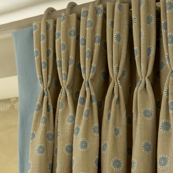 Triple pleast curtains