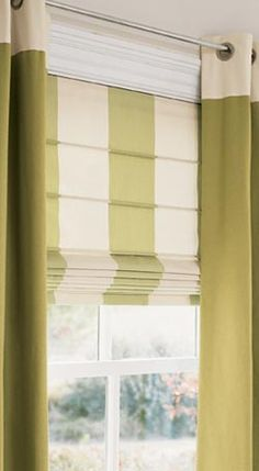 eyelet curtains with blind