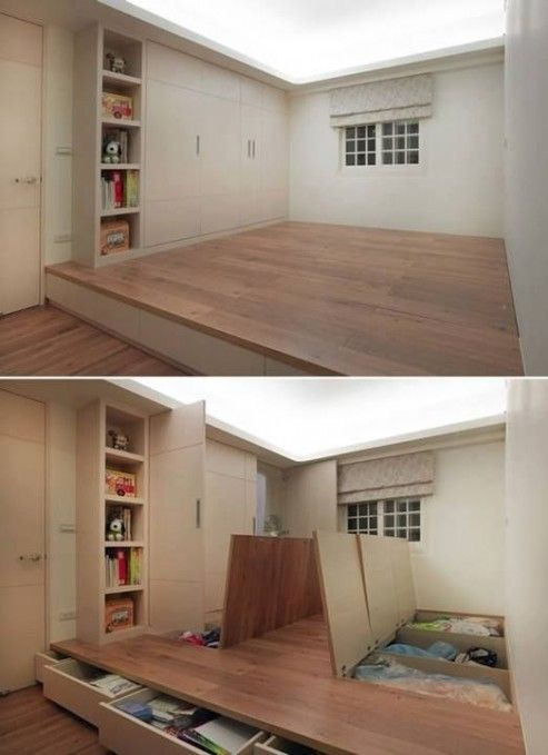 storage under bedroom floor