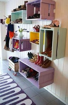 shoe storage boxes hall