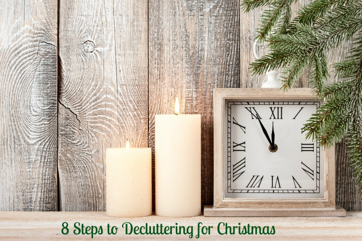 8 steps to decluttering for Christmas