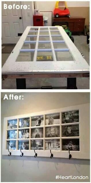 recycled-door-as-photo-frame-and-coat-hook