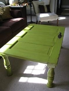 salvaged-door-as-coffee-table