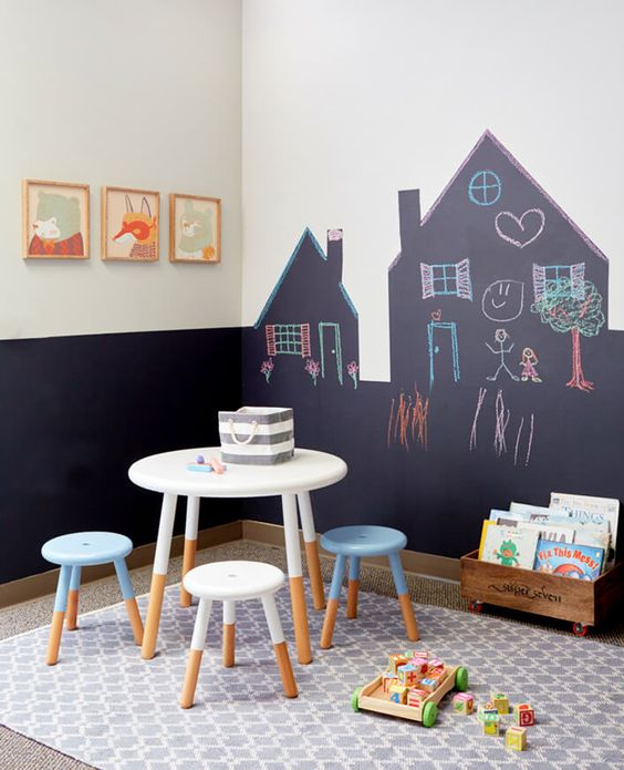 Playroom chalkboard