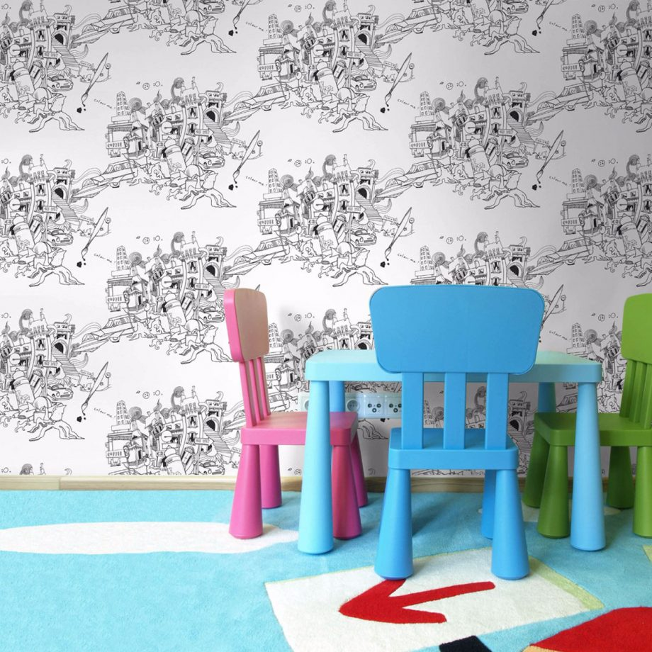Playroom wallpaper