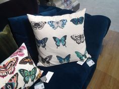 Harlequin Papilio butterfly cushion