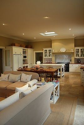 open plan living large space