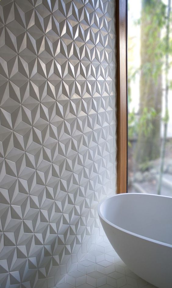 Interior design trends textured tiles