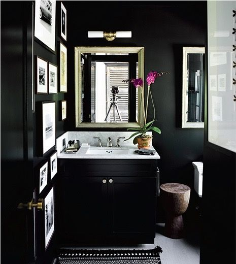 black bathroom 2