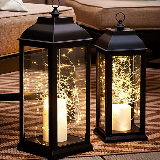 White lights lanterns