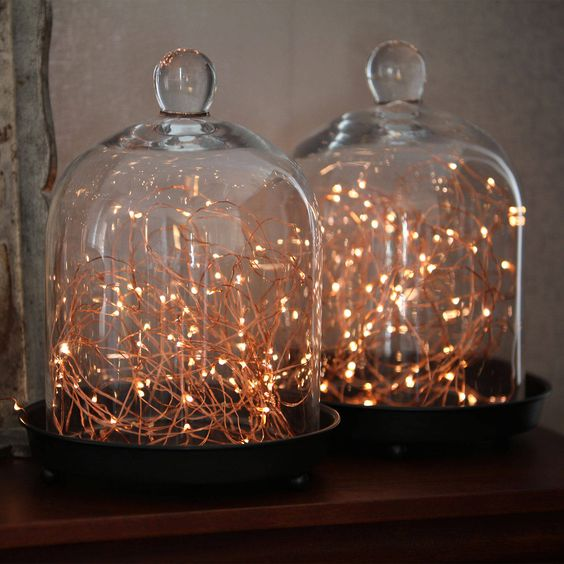 White lights under jar