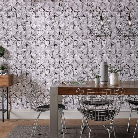 Wallpaper origami graham and brown