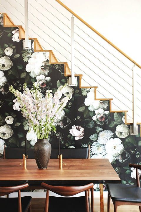 wallpaper large florals