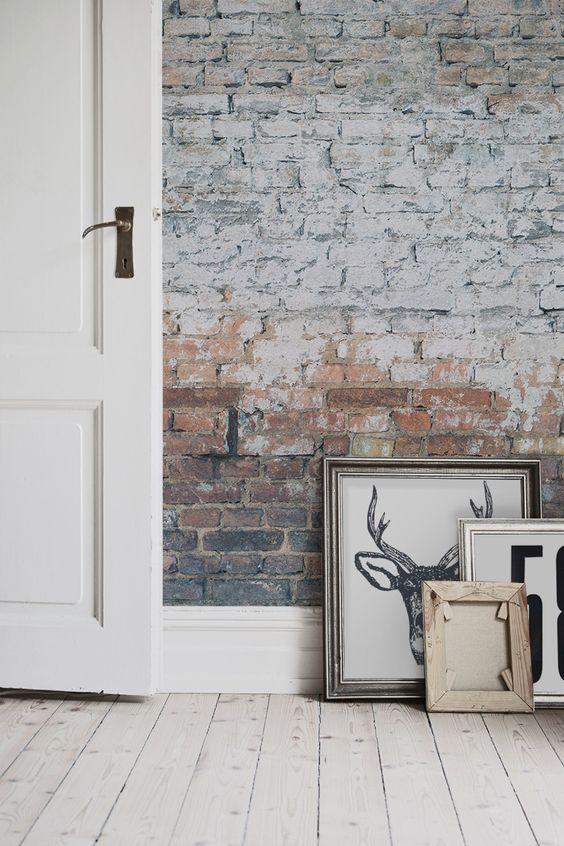 wallpaper old brick effect