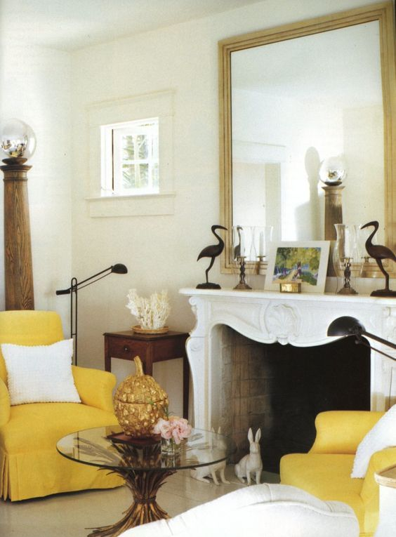 armchairs fireplace