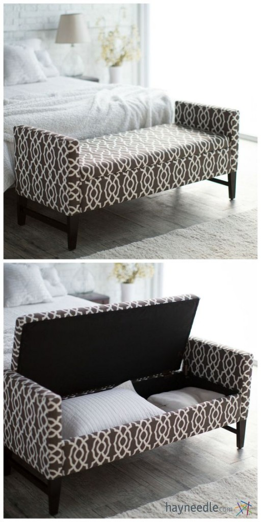 how to make room look bigger - ottoman