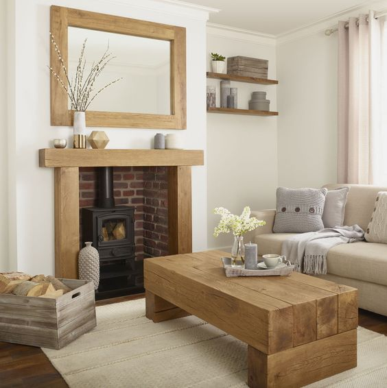 how to make room seem bigger - mantelpiece