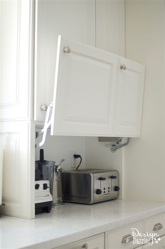 Kitchen furniture storage for toaster