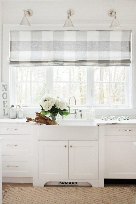 kitchen furniture roman blinds