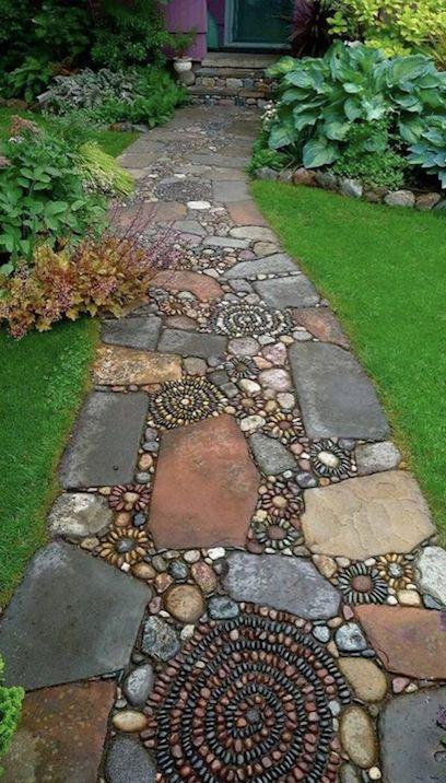 Garden path mosaic