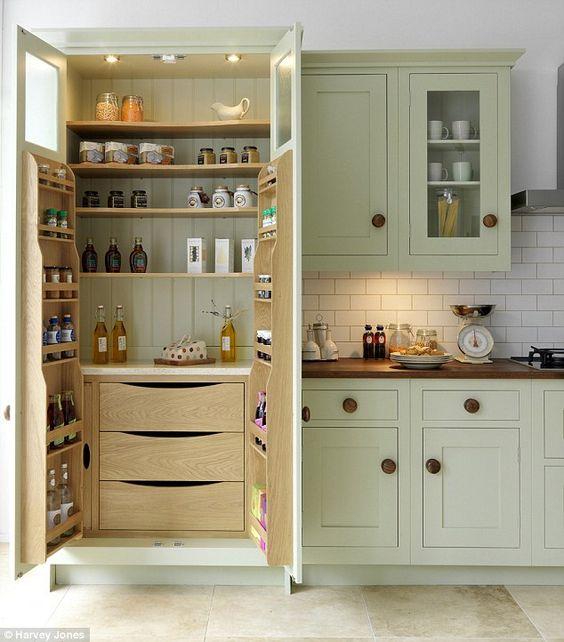 Kitchen organising larder
