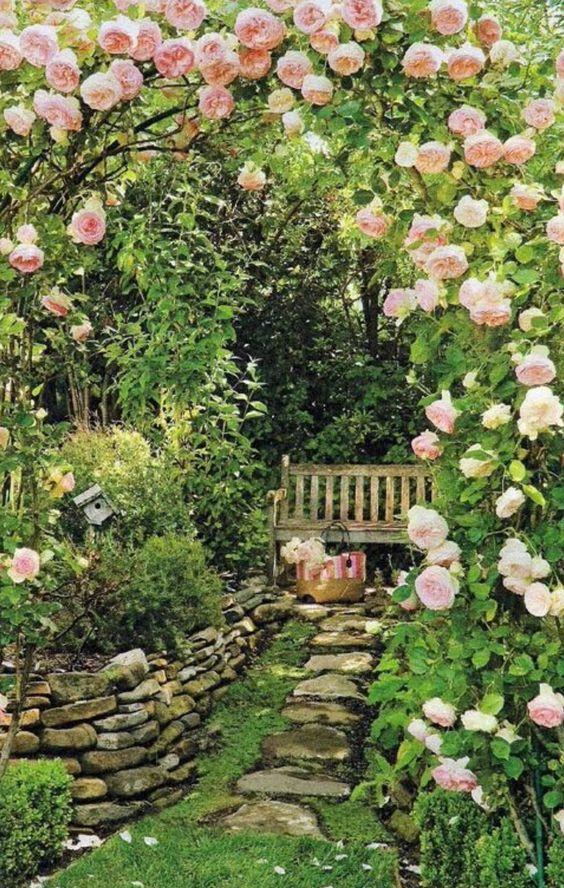 garden path to seat