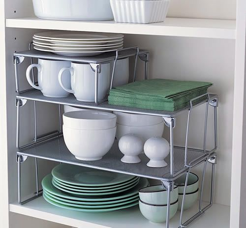 kitchen organising extra shelves
