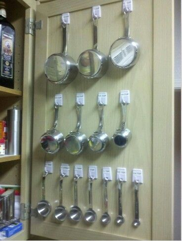 kitchen organising measuring spoons