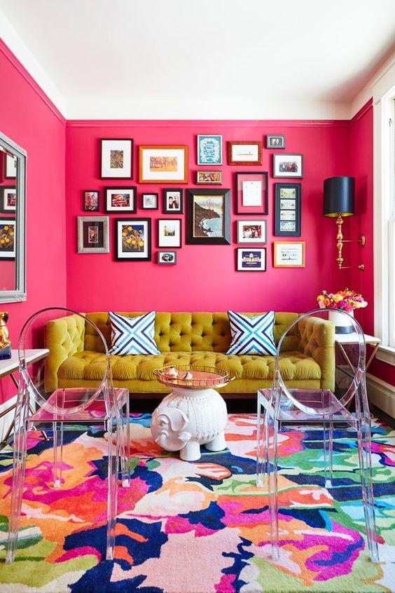 decorating - pink walls