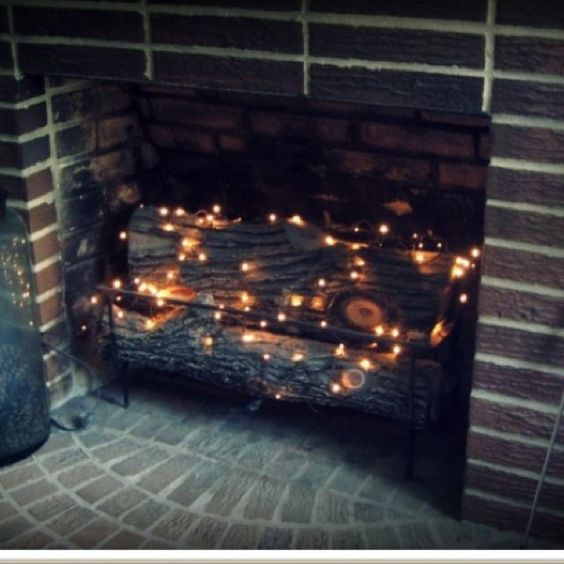 Fireplace fairy Lights