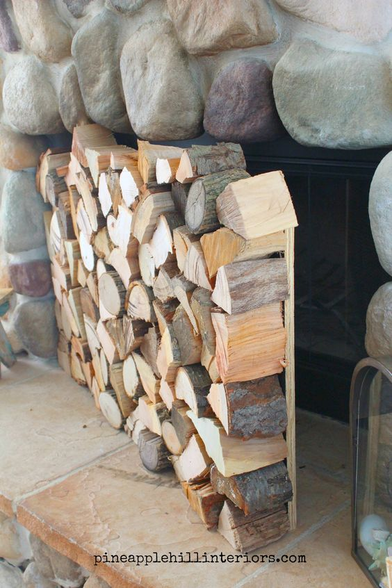 Fireplace faux logs