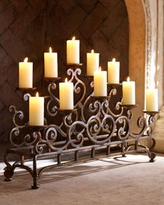 fireplace candleabra
